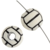 Acrylic Sport Bead Volley Ball 12mm White/Black